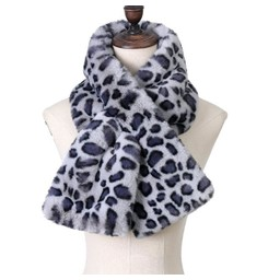 Lucy Cobb Accessories Leyla Leopard Print Scarf in Charcoal