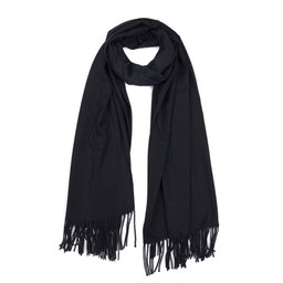 Lucy Cobb Accessories Perla Pashmina Scarf in Black