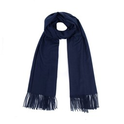 Lucy Cobb Accessories Perla Pashmina Scarf in Navy