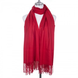 Lucy Cobb Accessories Perla Pashmina Scarf in Red