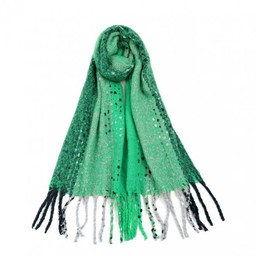 Lucy Cobb Accessories Betsy Boucle Scarf in Green