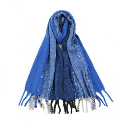 Lucy Cobb Accessories Betsy Boucle Scarf in Royal