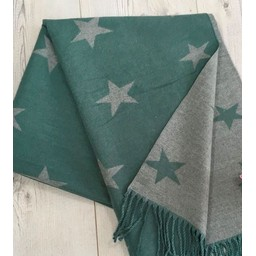 Lucy Cobb Accessories Star Reversible Pashmina  in Jade