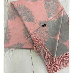 Lucy Cobb Accessories Fern Reversible Pashmina  in Baby Pink