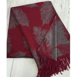 Lucy Cobb Accessories Fern Reversible Pashmina  - Berry