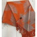 Fern Reversible Pashmina  - Burnt Orange