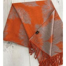 Lucy Cobb Accessories Fern Reversible Pashmina  in Burnt Orange