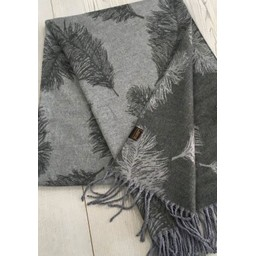 Lucy Cobb Accessories Fern Reversible Pashmina  in Grey