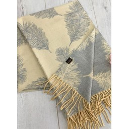 Lucy Cobb Accessories Fern Reversible Pashmina  in Ivory