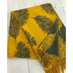 Lucy Cobb Accessories Fern Reversible Pashmina  in Mustard