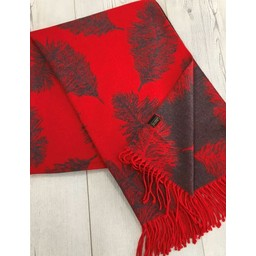 Lucy Cobb Accessories Fern Reversible Pashmina  in Red