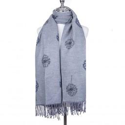 Lucy Cobb Accessories Dandelion Reversible Stripe Scarf - Grey