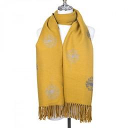 Lucy Cobb Accessories Dandelion Reversible Stripe Scarf - Mustard