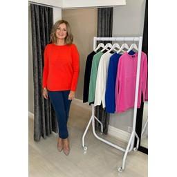 Lucy Cobb Super Soft Luxury Star Jumper in Orange