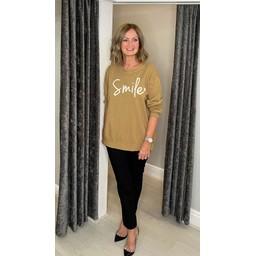 Lucy Cobb Smile Sweatshirt - Camel
