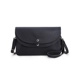Lucy Cobb Bags Dionne Double Clutch Bag  in Black