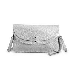 Lucy Cobb Bags Dionne Double Clutch Bag  in Silver