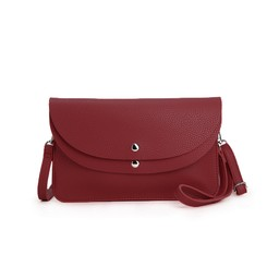 Lucy Cobb Bags Dionne Double Clutch Bag  in Wine