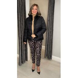 Frandsen Freya Faux Fur Collar Padded Jacket - Black
