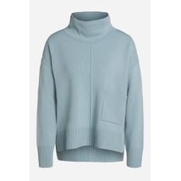 Oui One Pocket Jumper - Pale Blue