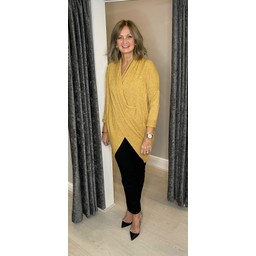 Lucy Cobb Timah Plain Crossover Tunic in Mustard