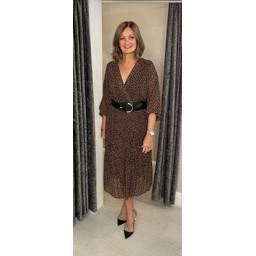 Lucy Cobb Ava Animal Print Dress in Chocolate Mix