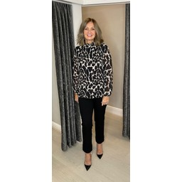 Lucy Cobb Clemmie II Animal Print Top - Ivory