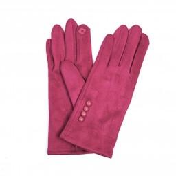 Lucy Cobb Accessories Brie Button Gloves in Fuchsia