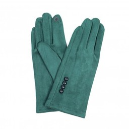 Lucy Cobb Accessories Brie Button Gloves in Green