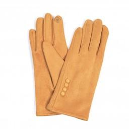 Lucy Cobb Accessories Brie Button Gloves in Mustard