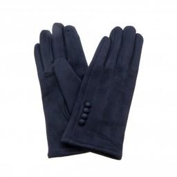 Lucy Cobb Accessories Brie Button Gloves in Navy