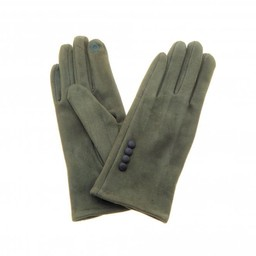 Lucy Cobb Accessories Brie Button Gloves in Olive