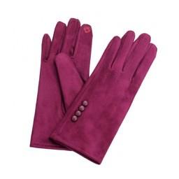 Lucy Cobb Accessories Brie Button Gloves in Plum