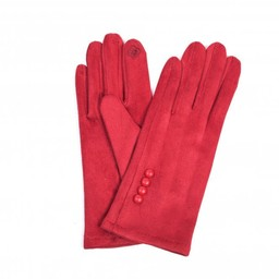 Lucy Cobb Accessories Brie Button Gloves in Red