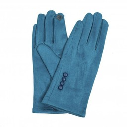 Lucy Cobb Accessories Brie Button Gloves in Teal