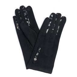 Lucy Cobb Accessories Belle Button Gloves in Black
