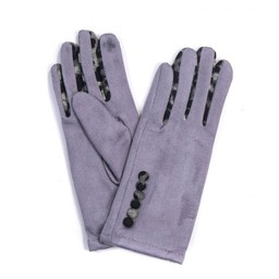 Lucy Cobb Accessories Belle Button Gloves in Charcoal