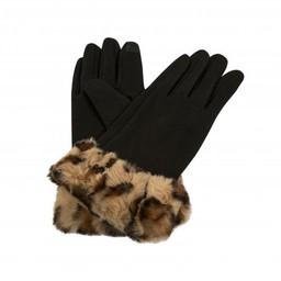 Lucy Cobb Faith Faux Fur Cuff Gloves in Brown