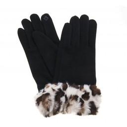 Lucy Cobb Faith Faux Fur Cuff Gloves in Cream