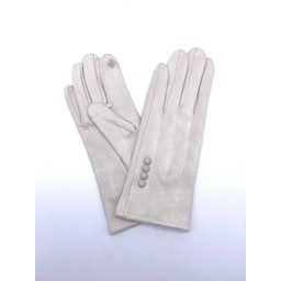 Lucy Cobb Accessories Brie Button Gloves in Stone