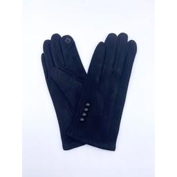 Lucy Cobb Accessories Brie Button Gloves in Black