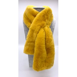 Lucy Cobb Accessories Faye Faux Fur Scarf in Yellow