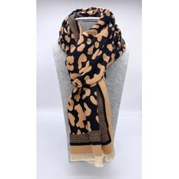 Lucy Cobb Accessories Libbie Leopard Scarf - Black