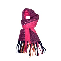 Lucy Cobb Accessories Betsy Boucle Scarf in Pink