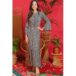 Onjenu Yana Maxi Dress - Leopard Beige