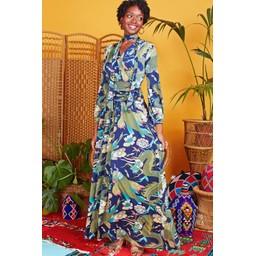 Onjenu Sharon Maxi Dress - Dragon Khaki