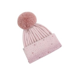 Lucy Cobb Accessories Sonita Sparkle Pearl Hat - Baby Pink