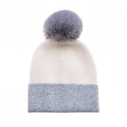 Lucy Cobb Accessories Two Tone Faux Fur Hat - Cream