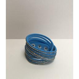 Lucy Cobb Sparkle Choker/Cuff - Blue