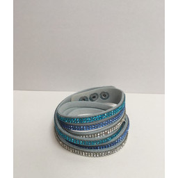 Lucy Cobb Sparkle Choker/Cuff - Blue Tri-Colour